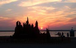 Άμμος Castle, Ντουμπάι Στοκ Εικόνες