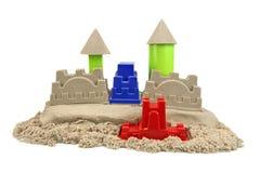 Άμμος Castle που απομονώνεται στο άσπρο υπόβαθρο Στοκ φωτογραφία με δικαίωμα ελεύθερης χρήσης