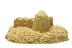Άμμος Castle που απομονώνεται στο άσπρο υπόβαθρο Στοκ εικόνα με δικαίωμα ελεύθερης χρήσης