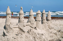 Κάστρο άμμου Στοκ Εικόνες