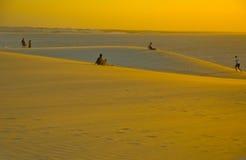 άμμος jericoacoara αμμόλοφων Στοκ Φωτογραφίες