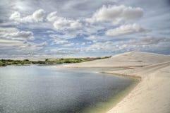 άμμος lencois αμμόλοφων Στοκ Φωτογραφίες