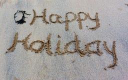 Άμμος Wrirting Στοκ Εικόνα