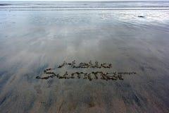 Άμμος Wrirting Στοκ Φωτογραφία