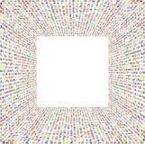 Άμορφες μικροσκοπικές μορφές που περιλαμβάνουν το τρισδιάστατο διαστρεβλωμένο πλαίσιο στα ζωηρά χρώματα Στοκ εικόνα με δικαίωμα ελεύθερης χρήσης