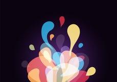 Άμορφο αφηρημένο υπόβαθρο Άμορφα στοιχεία σχεδίου σύγχρονα Διάνυσμα παφλασμών χρώματος Η ρευστή δυναμική βράζει σύνθεση μορφών ελεύθερη απεικόνιση δικαιώματος