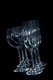 άμπελος γυαλιών σαμπάνια&si Στοκ εικόνα με δικαίωμα ελεύθερης χρήσης