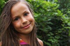 άμπελος φύλλων κοριτσιών Στοκ εικόνες με δικαίωμα ελεύθερης χρήσης