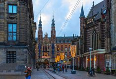 Άμστερνταμ, Κάτω Χώρες - 14 Δεκεμβρίου 2017: Το εμπορικό κέντρο μεγάλο Plaza Στοκ Εικόνες
