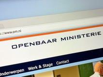 Άμστερνταμ, Κάτω Χώρες - 16 Μαΐου 2018: Επίσημη αρχική σελίδα των δημόσιων υπηρεσιών συνέχισης - OM Στοκ εικόνες με δικαίωμα ελεύθερης χρήσης
