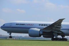 Άμστερνταμ οι Κάτω Χώρες - 2 Απριλίου 2017: Β-2096 φορτίο της Air China Στοκ εικόνες με δικαίωμα ελεύθερης χρήσης
