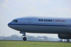 Άμστερνταμ οι Κάτω Χώρες - 2 Απριλίου 2017: Β-2096 φορτίο της Air China Στοκ φωτογραφία με δικαίωμα ελεύθερης χρήσης