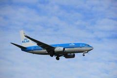 Άμστερνταμ, οι Κάτω Χώρες, Ιούλιος, 15ο το 2016: PH-BGX KLM Boeing 737 Στοκ Φωτογραφία