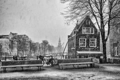 Άμστερνταμ σε Wintertime Στοκ Φωτογραφία