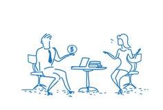 Άνδρας εργασιακών χώρων γραφείων συνεδρίασης επιχειρησιακών ζευγών που δίνει τη γυναίκα χρημάτων δολαρίων για την έννοια σκοπών δ Ελεύθερη απεικόνιση δικαιώματος