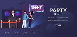 Άνδρας και γυναίκα ελέγχου προσώπου ψευτοπαλλικαράδων νύχτας κόμματος ελεύθερη απεικόνιση δικαιώματος