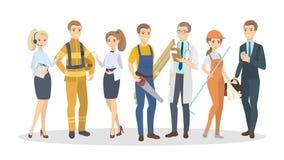 Άνδρες και γυναίκες επαγγελμάτων ελεύθερη απεικόνιση δικαιώματος