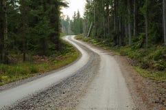 Άνεμος δρόμος αμμοχάλικου Στοκ Φωτογραφίες