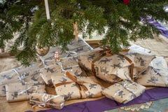 Άνετη διακόσμηση Χριστουγέννων Στοκ Φωτογραφία