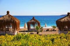 Άνετη τουρκική παραλία στοκ εικόνες με δικαίωμα ελεύθερης χρήσης