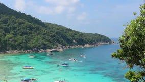 Άνετος κόλπος της θάλασσας Andaman Ταϊλάνδη φιλμ μικρού μήκους