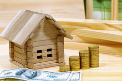 Άνετο σπίτι προγράμματος Χρήματα για το κτήριο και τις λεπτομέρειες του ΝΕ Στοκ φωτογραφία με δικαίωμα ελεύθερης χρήσης