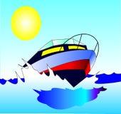 άνετο motorboat ταξιδιών γρήγορα Στοκ Εικόνες