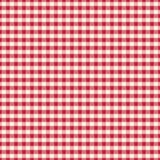 Άνευ ραφής άσπρη σύσταση υφάσματος σε ένα κόκκινο υπόβαθρο κυττάρων για το desig διανυσματική απεικόνιση
