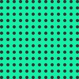 Άνευ ραφής άσπρο σχέδιο μπιζελιών, διαστιγμένο υπόβαθρο σε ένα πράσινο υπόβαθρο Στοκ Εικόνες