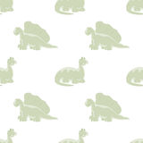 Άνευ ραφής άσπρο υπόβαθρο Φωτεινοί δεινόσαυροι Στοκ φωτογραφίες με δικαίωμα ελεύθερης χρήσης