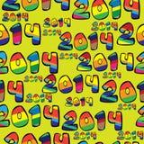 Άνευ ραφής έτος σχεδίων 2014 διανυσματική απεικόνιση