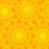 Άνευ ραφής ήλιος mandala κίτρινος Στοκ Εικόνες