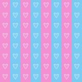 Άνευ ραφής αγάπη καρδιών σχεδίων Στοκ Εικόνα