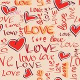 Άνευ ραφής αγάπη υποβάθρου απεικόνιση αποθεμάτων