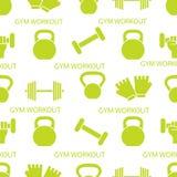 άνευ ραφής αθλητισμός προτύπων Εξοπλισμός Weightlifting ελεύθερη απεικόνιση δικαιώματος