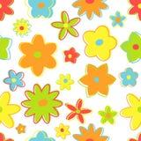 Άνευ ραφής αναδρομικά λουλούδια Στοκ εικόνες με δικαίωμα ελεύθερης χρήσης