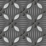 Άνευ ραφής ανακούφισης γλυπτών γκρίζο στρογγυλό χρώμιο σχεδίων διακοσμήσεων αναδρομικό διανυσματική απεικόνιση