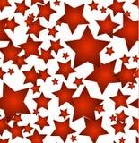 Άνευ ραφής ανασκόπηση αστεριών Χριστουγέννων Στοκ Εικόνα