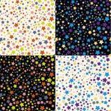 Άνευ ραφής ανασκόπηση με τα αστέρια Στοκ Εικόνα