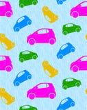 Άνευ ραφής ανασκόπηση με τα αυτοκίνητα Στοκ Εικόνες