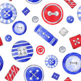 Άνευ ραφής ανασκόπηση με τα ζωηρόχρωμα κουμπιά Στοκ Εικόνες