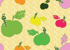 Άνευ ραφής ανασκόπηση με τα μήλα Στοκ εικόνα με δικαίωμα ελεύθερης χρήσης