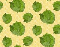 Άνευ ραφής ανασκόπηση με το λάχανο Στοκ Εικόνες
