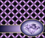Άνευ ραφής ανασκόπηση με το πορφυρό διαμάντι Στοκ Φωτογραφίες
