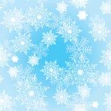 Άνευ ραφής ανασκόπηση με snowflakes_3 Στοκ Εικόνα