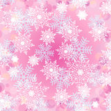Άνευ ραφής ανασκόπηση με snowflakes_4 Στοκ φωτογραφία με δικαίωμα ελεύθερης χρήσης