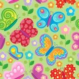 Άνευ ραφής ανασκόπηση πεταλούδων διανυσματική απεικόνιση