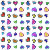 Άνευ ραφής ανασκόπηση προτύπων καρδιών Στοκ φωτογραφία με δικαίωμα ελεύθερης χρήσης