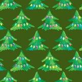 Άνευ ραφής ανασκόπηση χριστουγεννιάτικων δέντρων Στοκ εικόνα με δικαίωμα ελεύθερης χρήσης
