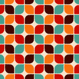Άνευ ραφής αναδρομικό γεωμετρικό σχέδιο κεραμιδιών Στοκ Φωτογραφίες